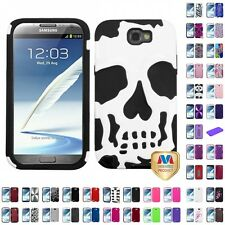 For Samsung Galaxy Note II 2 Hard Silicone Hybrid Design Cover Case Accessories