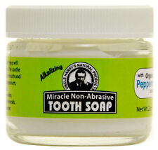 Miracle Tooth Soap Peppermint For Mineralizing Teeth (2 oz glass jar)