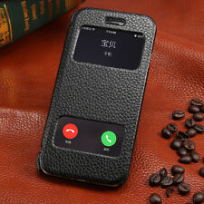 Window View Leather Flip Pouch Hard Book Case Cover For apple iPhone 4/5s 6/Plus