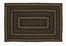 Black and Tan Jute Braided Area Rug~ Braided Country Primitive Rug~VHC~Farmhouse