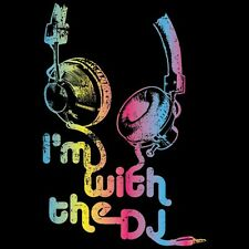 I'm With The DJ Neon Tee Pick Style & Size Up to 4XL Glow Blacklight Rave  10499