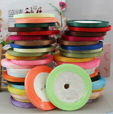 "Brand New 1/4"" 25 yds satin ribbon wedding craft sewing decorations many colors"