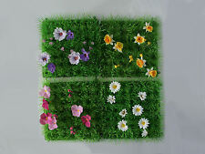 ASTRO TURF FOR FAIRY / HOBBIT GARDEN - CHOICE OF 4 WITH DIFFERENT FLOWERS - NEW