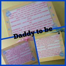 DADDY TO BE SURVIVAL KIT - baby shower, new DAD, novelty gift keepsake