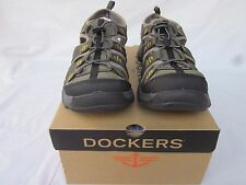 New Men's Size 9 or 11 Dockers Olive/gray Pershing Fisherman Closed Toe Sandals