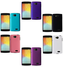 Hard Rubberized Matte Snap-On Cover Case For LG Tribute LS660 F60
