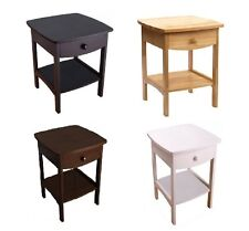 Wooden Bedside End Table Nightstand With Drawer Shelf Storage Bedroom Furniture