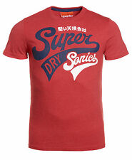 New Mens Superdry Factory Second Supersonics T-Shirt Red Marl