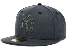 Official MLB Kansas City Royals Graphite Heather New Era 59FIFTY Hat