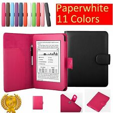 Premium Folio PU Leather Stand Case Cover for Amazon Kindle Paperwhite Kindle 5
