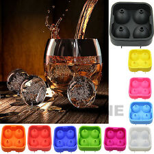 Silicon Whiskey Ice Cube Ball Maker Mold Sphere Mould Party Tray Brick Round Bar