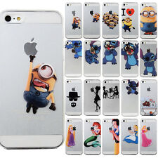 Cute Cartoon pattern PC hard  back Case Cover Skin For iPhone 4 5 5S 6 6 plus
