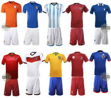 2014 Hot Kids Boys Soccer Football Cloth Star Jersey Shorts Youth Size Team Suit