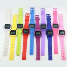 New Silicone Rubber Strap Retro Vintage Digital Watch Boys Girls Mens Watches