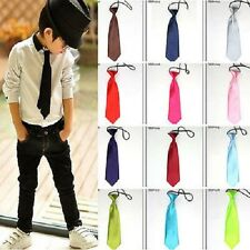 New Wedding Party School Kids Stain Solid Necktie Elastic Tie Necktie Toddlers