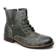New Men's Grey Ferro Aldo High Top Boots Cap Toe Suede / Leather Lace Up NEW