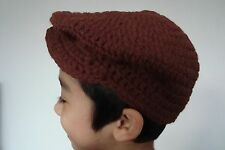 Handmade Crochet Unisex Ivy Newsboy Golf Cap Hat Beanie for Baby to Teen