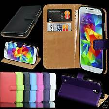 Genuine Real Leather Flip Case Wallet Stand Cover For Samsung Galaxy S5 Mini