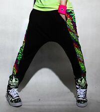 Harem Hip Hop dance pants leopard patchwork sports trousers Costume sweatpants