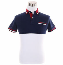 Tommy Hilfiger Men Short Sleeve Custom Fit Pique Polo Shirt - Free $0 Shipping