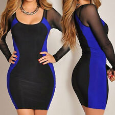 2014 Hot Summer and Autumn New Slim Package Hip Sexy Lace Dress Blue&Black
