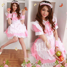 Girls Hot Sexy Anime Cosplay Maid Costume Uniform Dresses Party Performance Wear