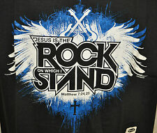 NWT Kerusso Jesus is the Rock on which I stand Christian Music T Shirt