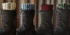 New Handmade Crochet Boot Cuffs, Boot Sock Toppers, Black, Camo, Tan, Creme etc.