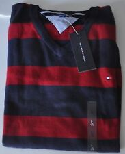 Tommy HOMME PULL NEUF 100% Coton BLEU ROUGE COLV tailles S, M, L 2015