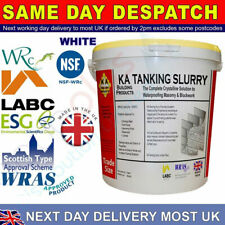 Waterproof damp proofing wetwall sealer tanking slurry grey or white bucket 25kg