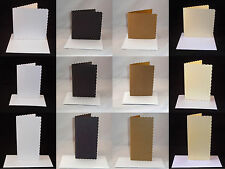 10 x Scalloped Greeting Card Blanks & Envelopes - Choose Colour & Quantity