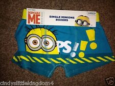 New Despicable Me Minion boys single pair of boxers boxer shorts underwear