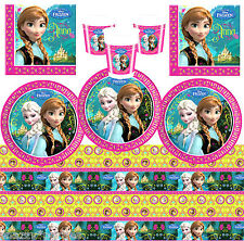 DISNEY FROZEN Birthday Party VALUE Tableware Plates Cups Napkins Tablecover