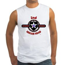 """2ND INFANTRY DIVISION  """" INDIAN HEAD """"  SLEEVELESS / TANK TOP SHIRT"""