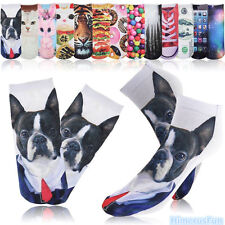 New 20 Colors 3D Printed Men Women Cute Low Cut Ankle Socks Multiple Harajuku