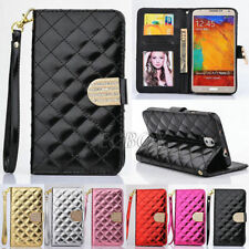 Bling Rhinestone Glossy PU Leather Handbag Wallet Case For Samsung Galaxy S Note