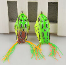Cute Large Frog Topwater Fishing Lure Crankbait Hooks Bass Bait Tackle New