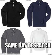 New Mens Long Sleeve Polo Top Shirt   Size S M L XL   (UK SAME DAY DISPATCH)