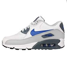 Nike Air Max 90 LTR Leather White Blue Grey 2015 NSW Mens Running Shoes Sneakers