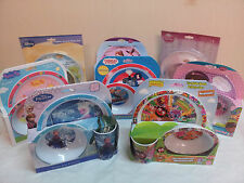 CHILDRENS  CHARACTER DINNER  PLATE, BOWL, TUMBLER SET FROZEN, PEPPA,SOFIA