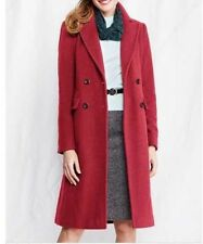 NEW WOMENS TALL & PLUS LANDS END LUXE WOOL DOUBLE BREASTED COAT  FULL LENGTH RED