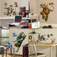 TEENAGE MUTANT NINJA TURTLES WALL DECALS Raphael Leonardo Donatello Michelangelo