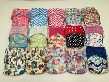 Happy Flute One Size All-In-One Charcoal Bamboo Cloth Diaper. Fit 10-40lb.