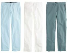 J.Crew Pants Mens Urban Slim Fit Flat Front Trousers Lightweight Cotton Chinos
