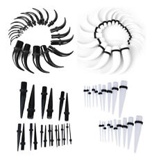 20 / 22PCs EAR STRETCHING KIT TAPERS PLUG TUNNEL STRETCHER EARRING SET - VARIOUS