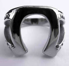 Stainless Steel JUSTIFIED HORSESHOE RING Marshal Raylan TV Props Replica