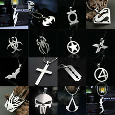 Anime Super Heroes Stainless Titanium Steel Silver Pendant Necklace Charming