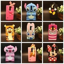 For LG 3D Cartoon Mickey Stitch Cute Pig Tiger Squirrel Soft Silicon Case Gifts