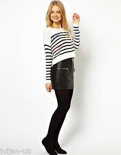 NEW LADIES ASOS STRIPED JUMPER WITH FRENCH WORDS SIZE 12 BNWOT