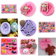 15 Multi-style Cute Toys Silicone Fondant Mold for Polymer Clay Candy Chocolate